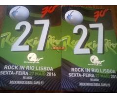 Bilhetes Rock in Rio 2016 - Dia 27 Maio